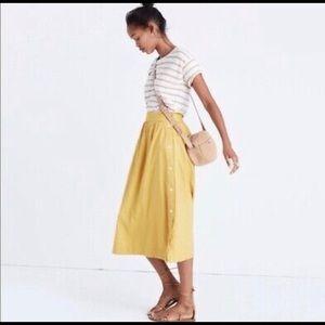 Madewell Yellow Midi-skirt
